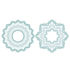 Set of guilloche rosettes vector image
