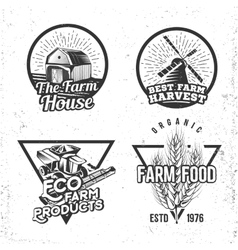 Set of logos farmhouse concepts Labels in retro vector