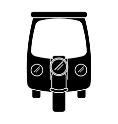 silhouette motor rickshaw transport tricycle vector image