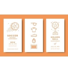 Soccer championship card vector image