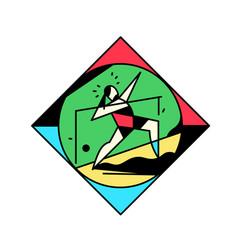 square icon sport gymnastics vintage vector image
