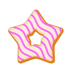Star biscuit icon flat style vector
