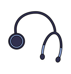 Stethoscope medical equipment healthcare icon vector