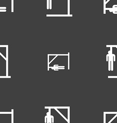 Suicide concept icon sign Seamless pattern on a vector image