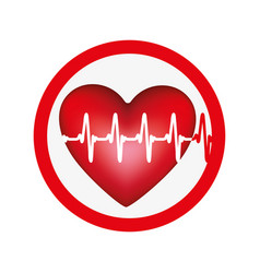 Symbol heartbeat icon image vector