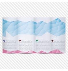 Template light design for trifold brochure vector image