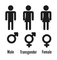 Transgender male set of symbols isolated vector
