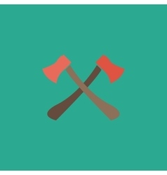 Two axes with wooden handles vector image