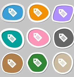 Web stickers tags and banners symbols multicolored vector