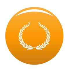 Winning wreath icon orange vector