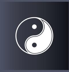 yin yang logo symbol icon vector image
