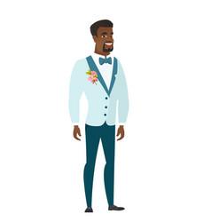 young african-american happy groom vector image