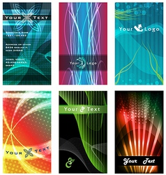 Abstract Business Card Designs vector image vector image