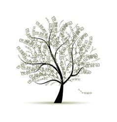 Art tree for your design vector image vector image