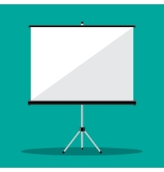 Empty Projection screen vector image