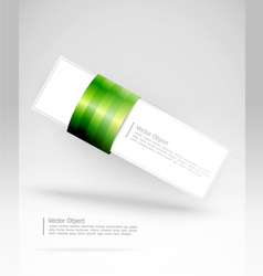 green stripe banner vector image vector image