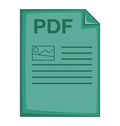 PDF file icon cartoon style vector image