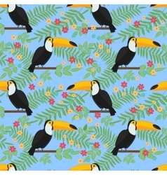 Tropical bird seamless pattern background vector image vector image
