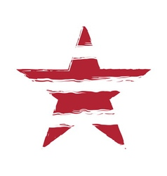 American flag star element symbol vector