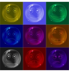 bubbles smileys colorful vector image vector image