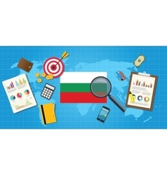 Bulgaria economy economic condition country with vector