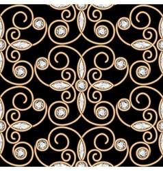 Gold diamond pattern vector image vector image