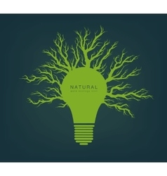 green light from tree and branches vector image