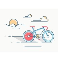 Sport bike line style vector image vector image