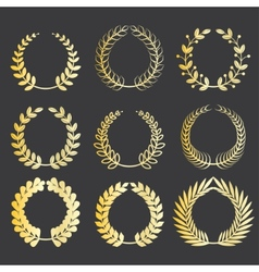 wreaths vector image vector image