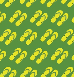Yellow slippers seamless pattern vector image vector image