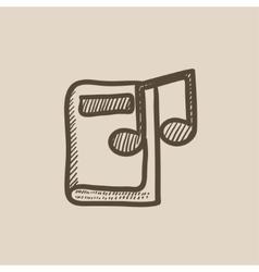 Audio book sketch icon vector image vector image