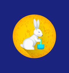 chinese moon rabbit vector image