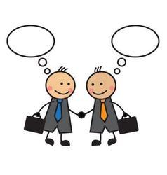 Cartoon businessmen shaking hands vector image