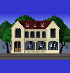 A store of elite clothing located on the first vector