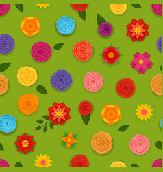 abstract spring flowers seamless pattern seamless vector image