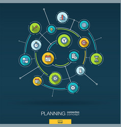 abstract time management planning background vector image