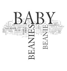 babybeanie text word cloud concept vector image