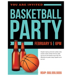 Basketball Party vector image