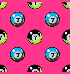 billiards ball seamless pattern vector image