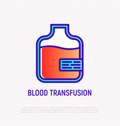 blood transfusion thin line icon vector image