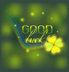 card with good luck wish vector image