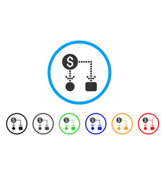 cashflow rounded icon vector image