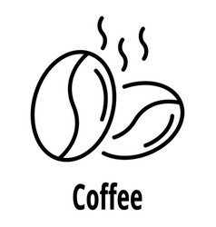 coffee nut icon outline style vector image