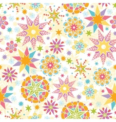 Colorful Christmas Stars Seamless Pattern vector image