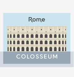 colosseum flat style vector image