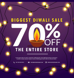 Diwali festival sale discount and offers banner vector