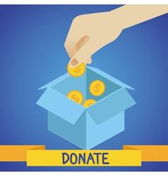 Donate concept vector