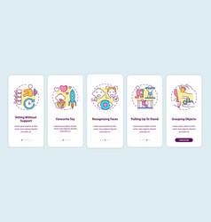 Early child development onboarding mobile app vector