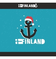 Emblem of Finland with hand drawn image in vintage vector