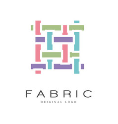 Fabric original logo design creative sign for vector